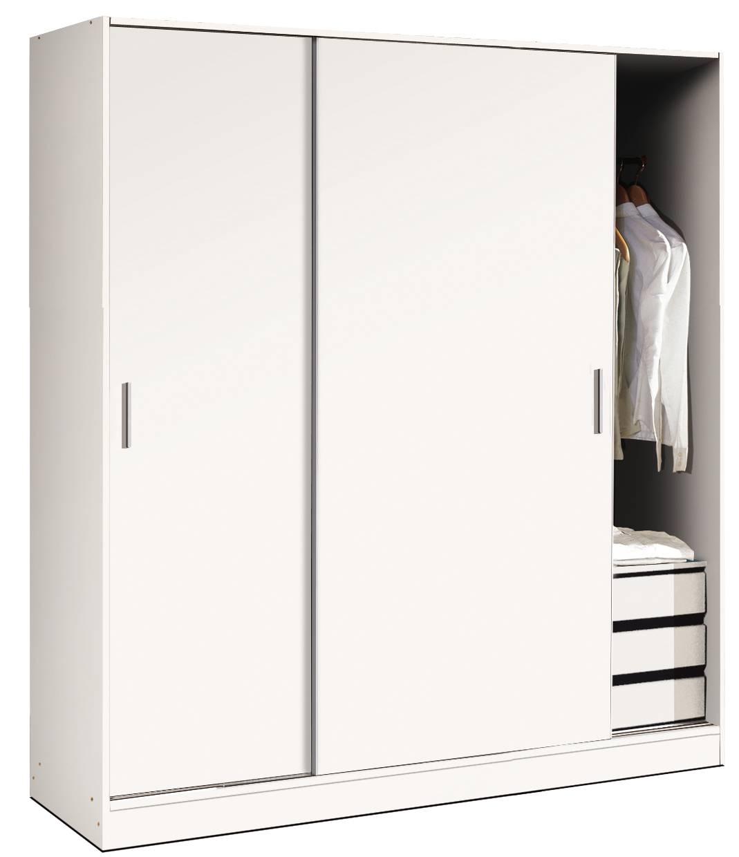 Armario Corredero Blanco 200x182 Dormitorio Armarios Online