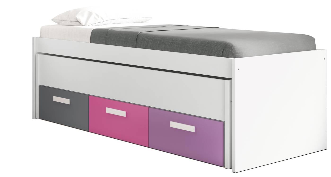 Cama compacta cubierta 3 cajones dormitorio juvenil - Cama compacta con cajones ...