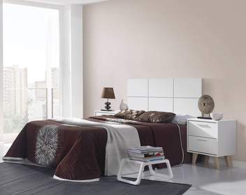 Dorm. FIFTY Blanco/Cambrian - Dormitorio de matrimonio color blanco o Cambrian