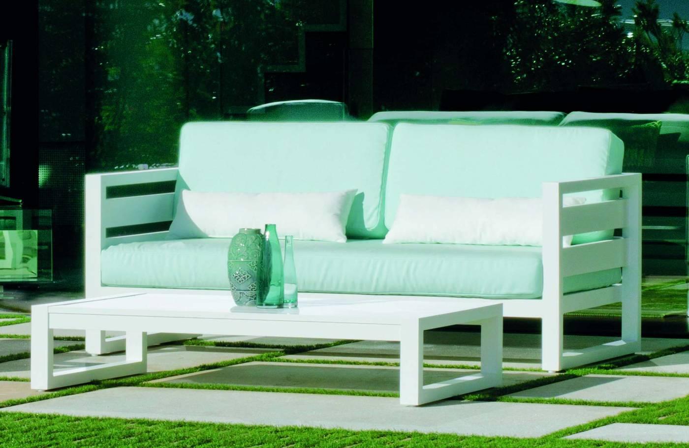 Sofá Aluminio Luxe Cosmos 2 De Hevea Terraza Jardín