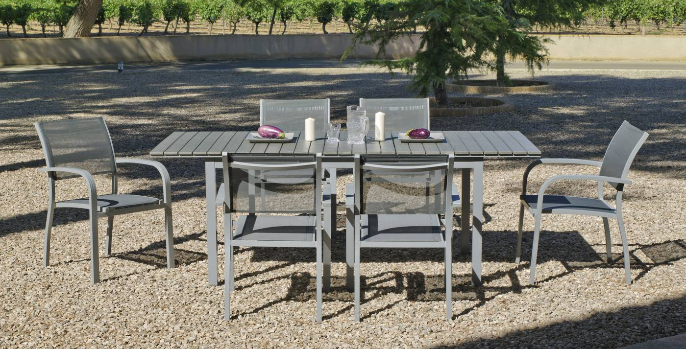 Conjunto Aluminio Denis-Amberes de Hevea « Terraza/Jardín ...