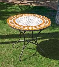 Muebles de jardín de forja con mesa tablero mosaico Online « Muebles ...