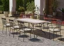 Muebles De Jardín De Forja Con Mesa Tablero Mosaico Online